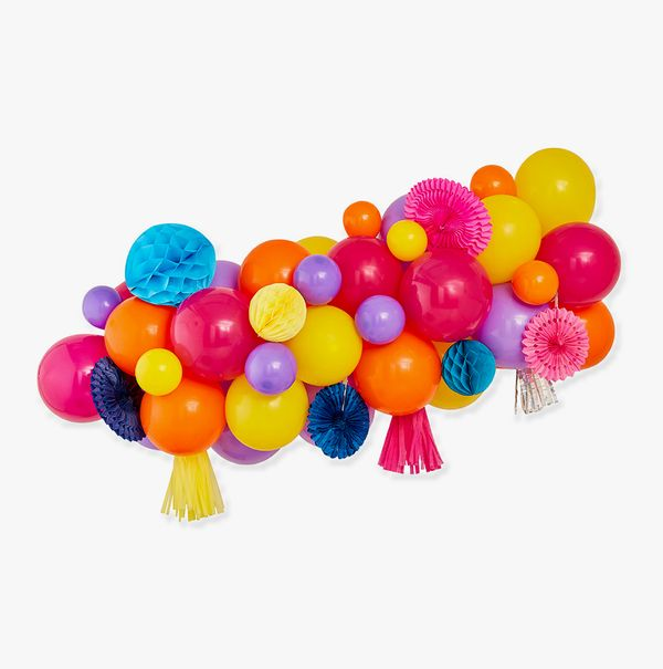 Ginger Ray for Paperchase bright balloon garland