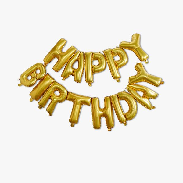Ginger Ray for Paperchase gold birthday balloon bunting
