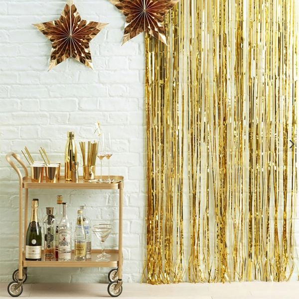 Ginger Ray for Paperchase hanging gold fringe curtain