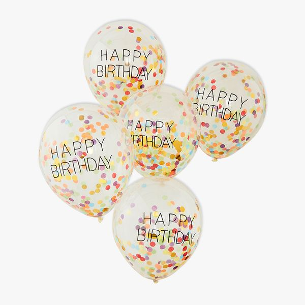 Ginger Ray for Paperchase confetti birthday balloons - pack of 5