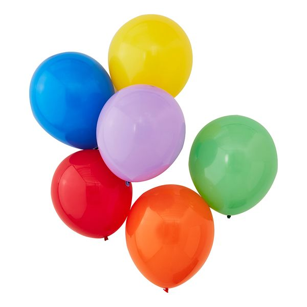 Ginger Ray for Paperchase multicolour balloons - pack of 12