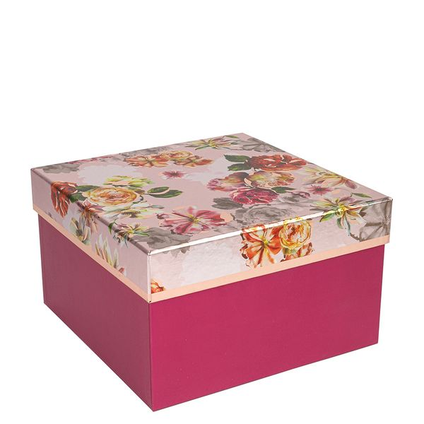 Large peony floral gift box