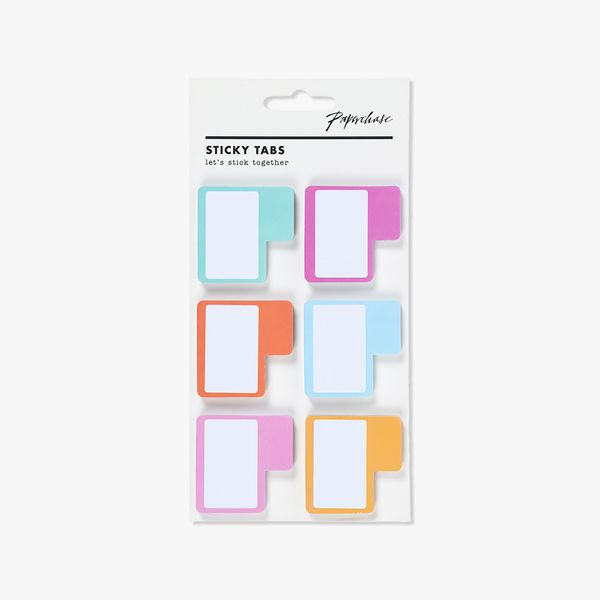 Pastel coloured sticky tabs