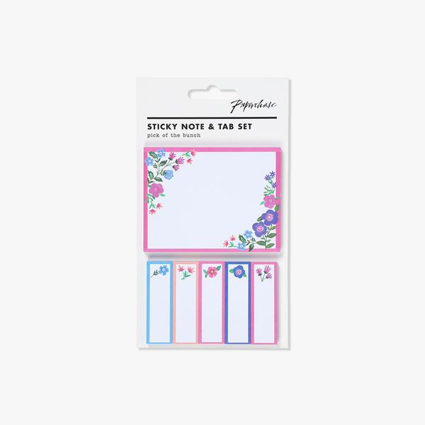 Floral sticky note and tab set