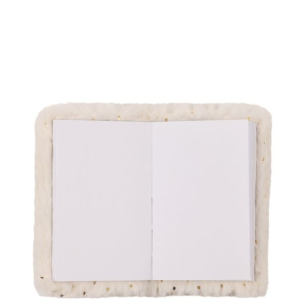 A7 fluffy white notebook