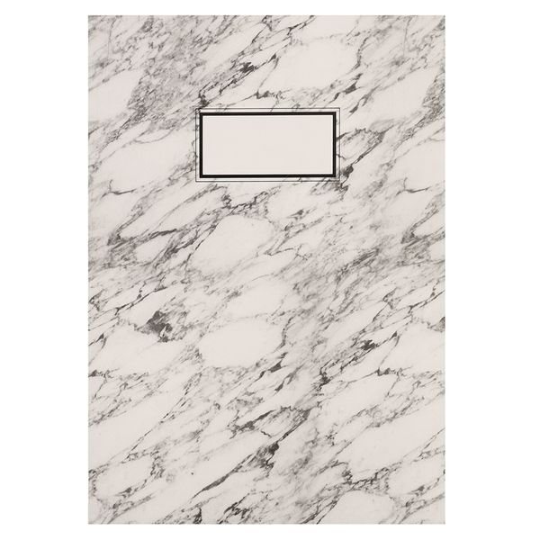 A4 open spine marble notebook