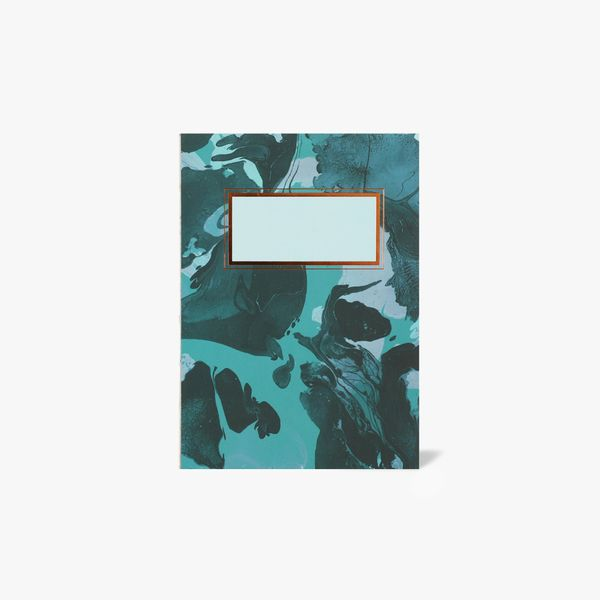 A6 Green Marble Notebook