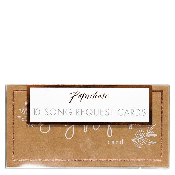 Wedding song request cards - pack of 10