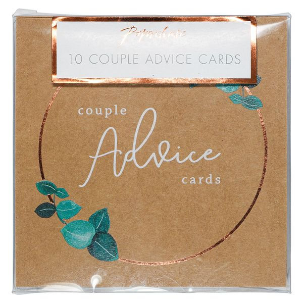 Wedding advice cards - pack of 10
