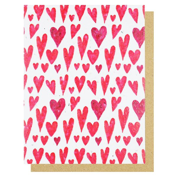 Multi hearts seed Valentine's Day card