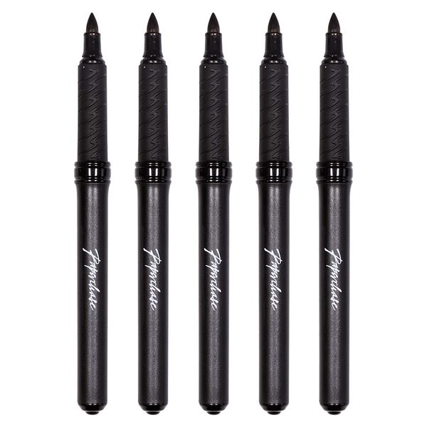 Permanent markers black ink - pack of 5