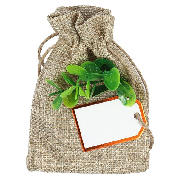 Hessian bag wedding favours - pack of 5