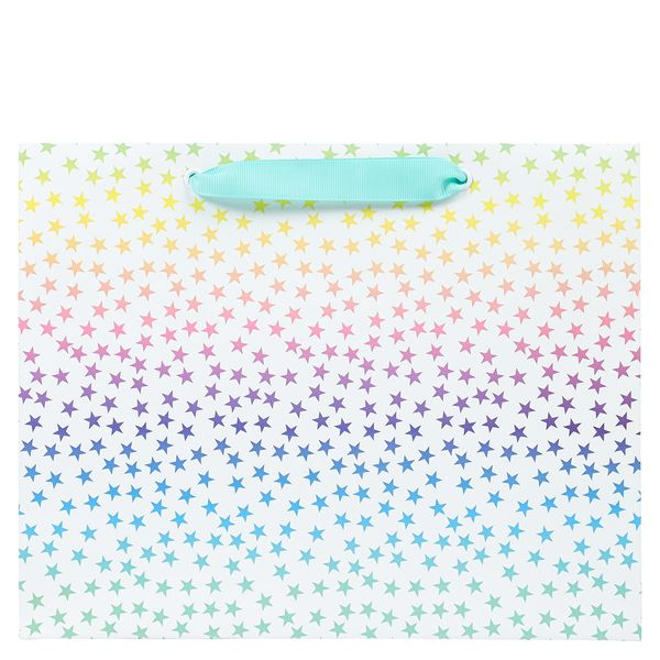 Medium ombre pastel star gift bags – pack of 10