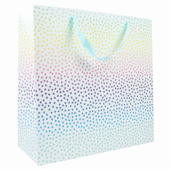 XL ombre pastel star gift bag