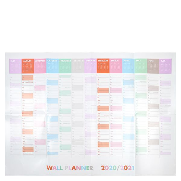 A1 pastel multi wall planner 2020-2021
