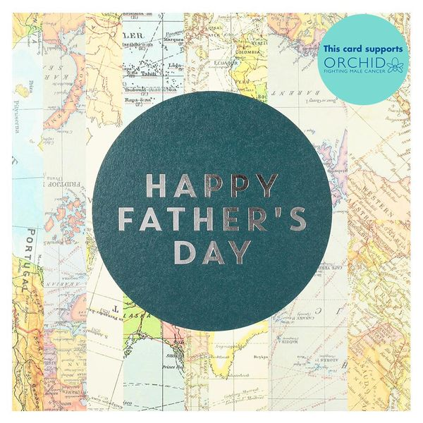 World map Father's day card