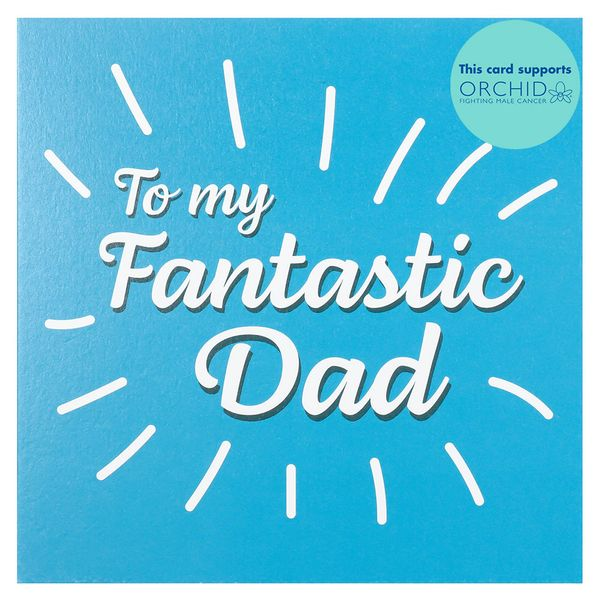Blue fantastic dad Father's day card