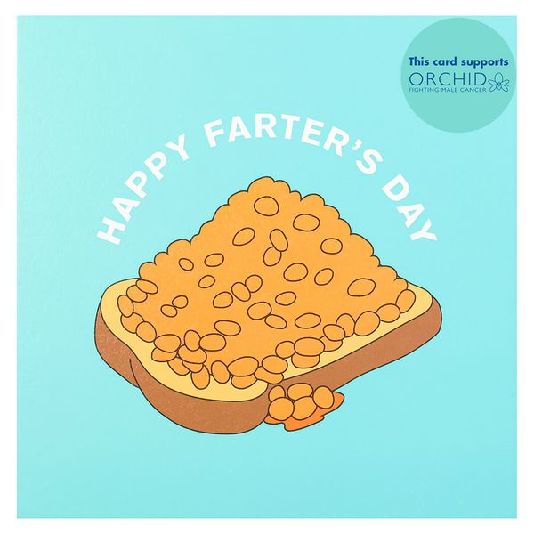 Beans on toast Father's day card