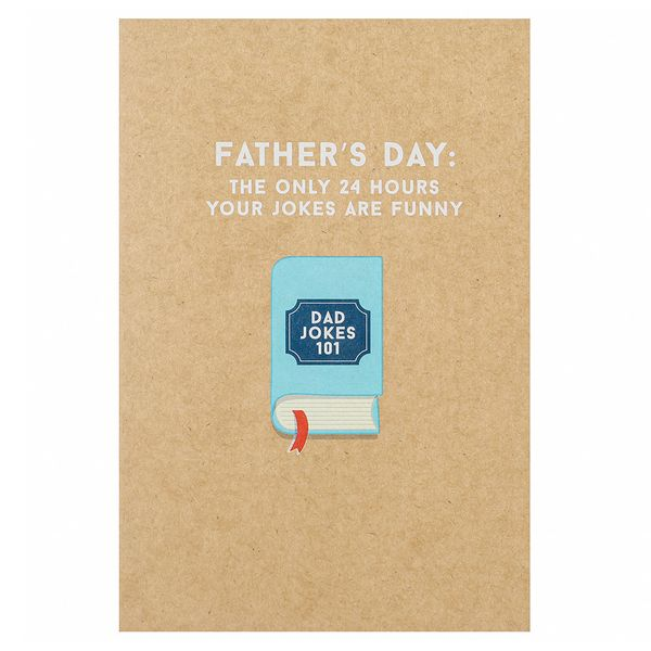 Dad jokes 101 Father's day card