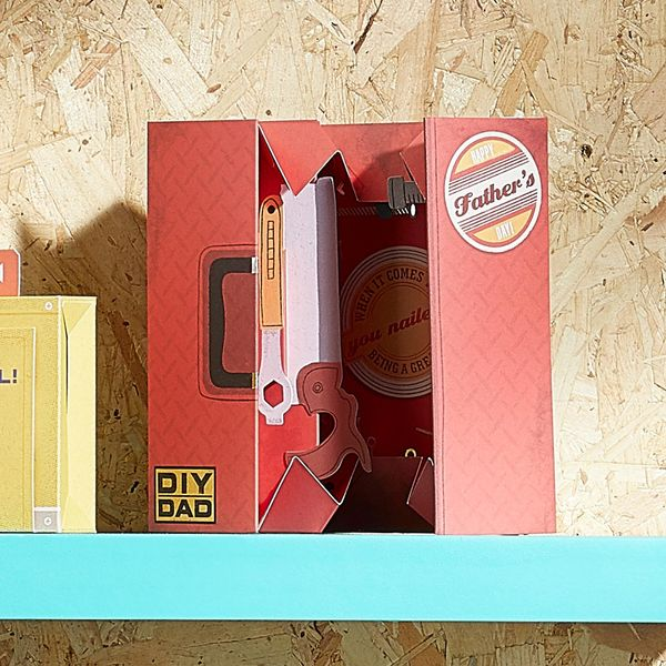 Pop up tool box Father's day card