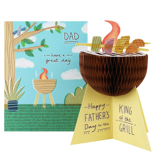 3D king of the grill Father's day card
