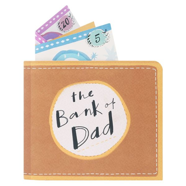 Pop up bank of Dad Father's day card