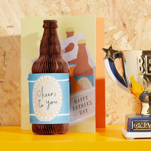 3D beer bottle Father's day card