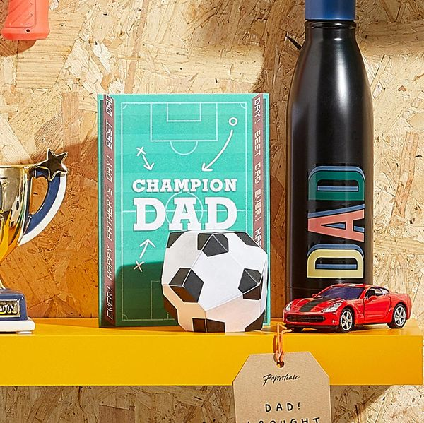 Pop out football Father's day card