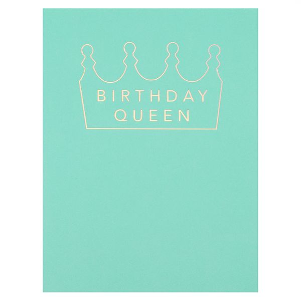 Holographic crown birthday card