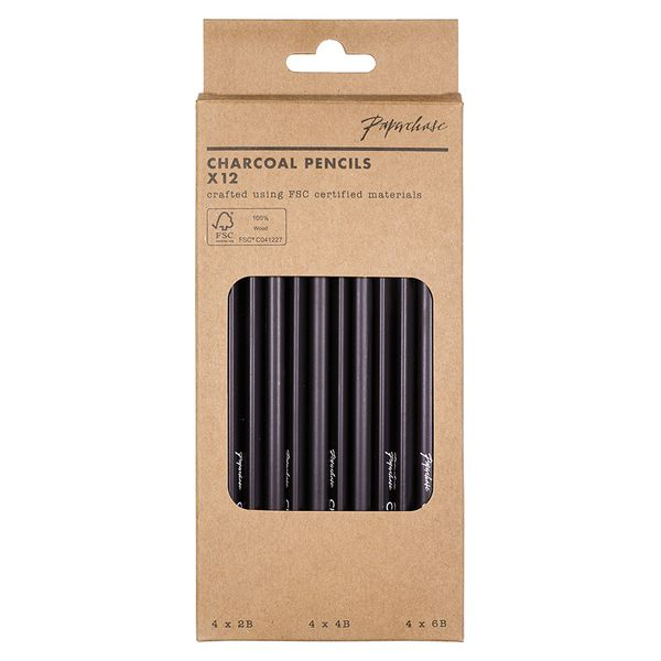 Charcoal pencils - pack of 12