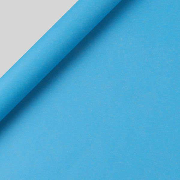 Neon blue Kraft wrapping paper - 3m