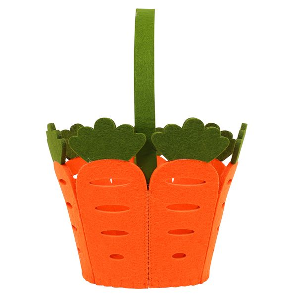 Carrot felt basket