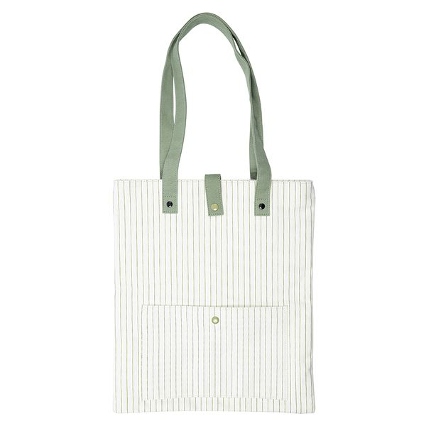 Organic stripe tote bag