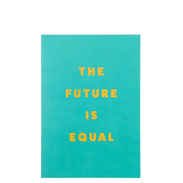 A5 the future is equal green notebook