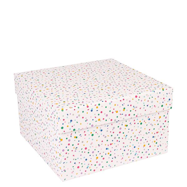Large holographic confetti gift box