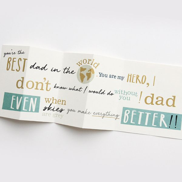 Fold out best dad ever Father's Day card