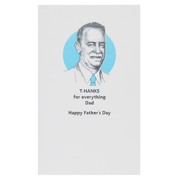 T-hanks for everything Father's day card