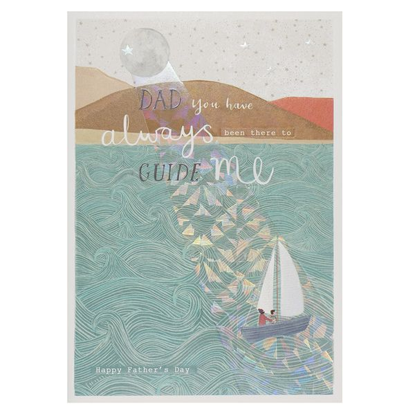 Always guide me Father's day card