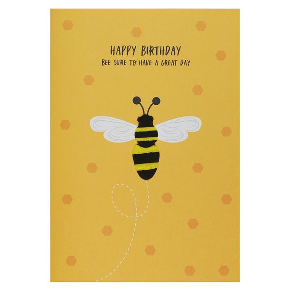 Bee sure to have a great day birthday card