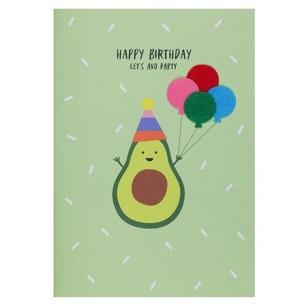 Let's Avo Party Birthday Card
