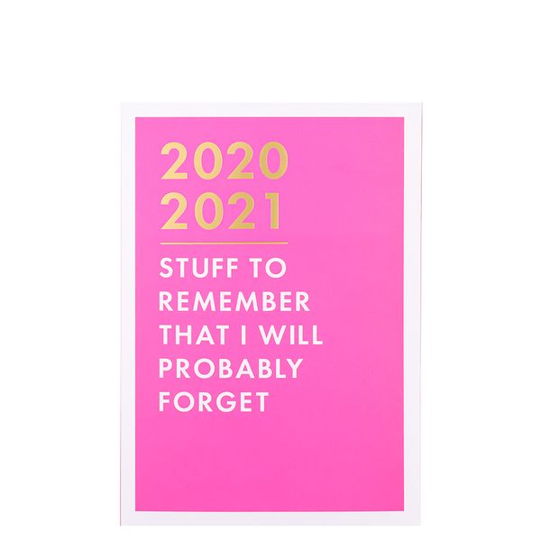 A5 neon pink academic diary 2020-2021