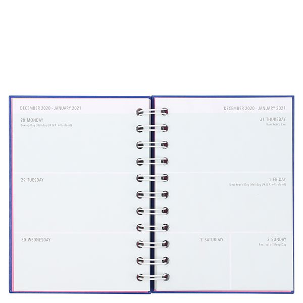 A6 blue quirky academic diary 2020-2021