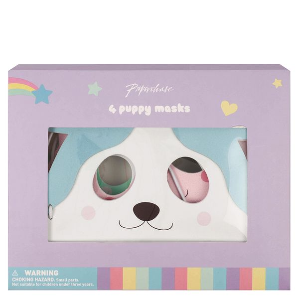 Pastel pups foam masks - pack of 4