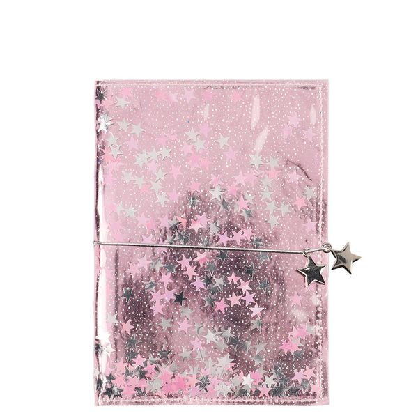 Enchanted forest glitter-filled ruled notebook