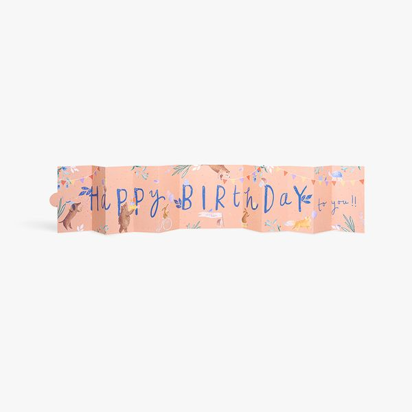 Happy birthday pull out banner