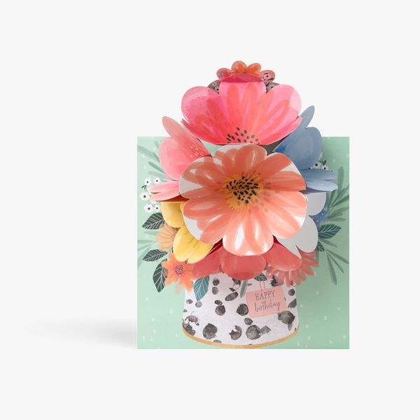 Pop Out Flowers Birthday Card