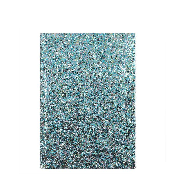 Enchanted Forest chunky glitter ruled notebook
