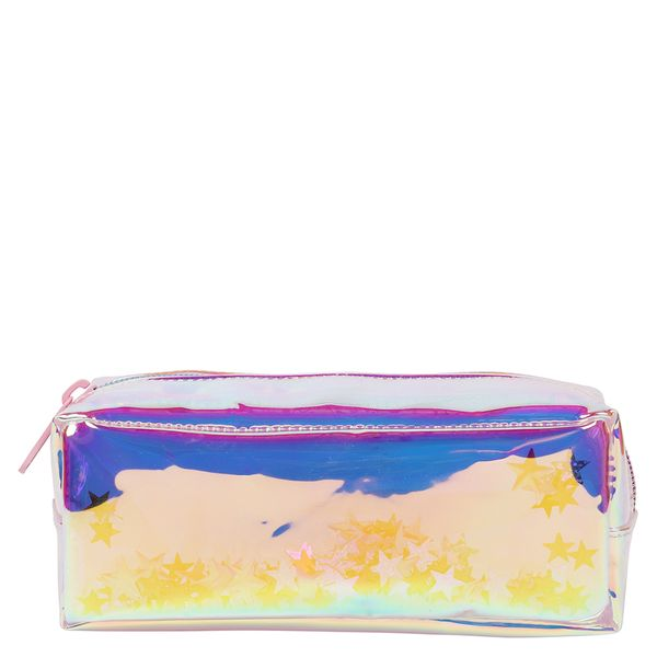 Enchanted Forest clear glitter pencil case