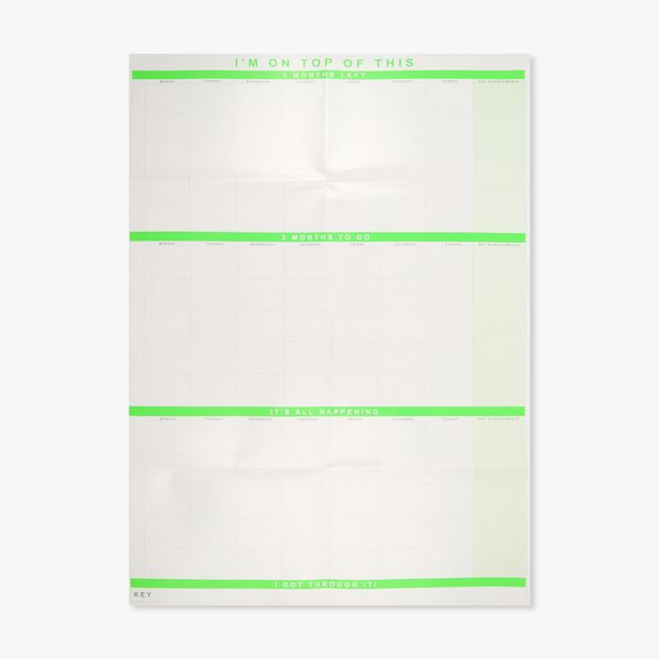 A1 3 month wall planner