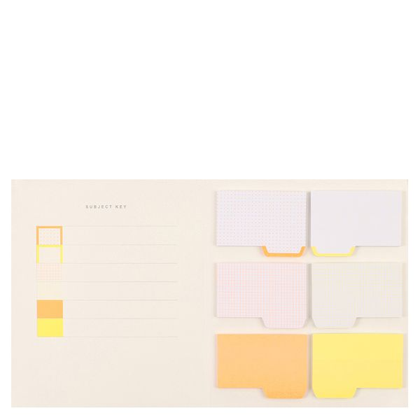 Colour coded sticky notes book
